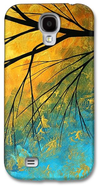 Abstracts Galaxy S4 Cases - Abstract Landscape Art PASSING BEAUTY 2 of 5 Galaxy S4 Case by Megan Duncanson