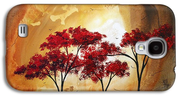 Abstract Landscape Painting Empty Nest 2 By Madart Galaxy S4 Case by Megan Duncanson
