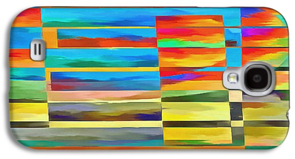 Abstract Digital Galaxy S4 Cases - Abstract Lines and Shapes 2 Galaxy S4 Case by Edward Fielding