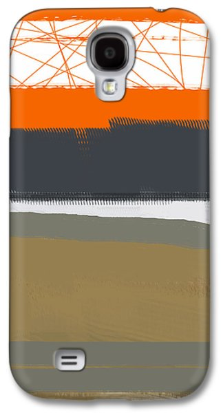 Abstract Orange 1 Galaxy S4 Case by Naxart Studio