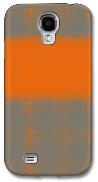 Design Paintings Galaxy S4 Cases - Abstract Orange 3 Galaxy S4 Case by Naxart Studio