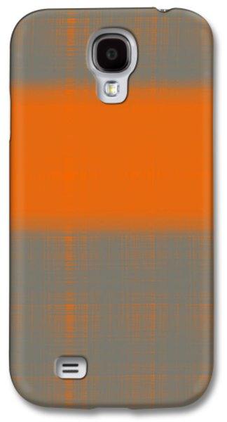 Abstract Orange 3 Galaxy S4 Case by Naxart Studio