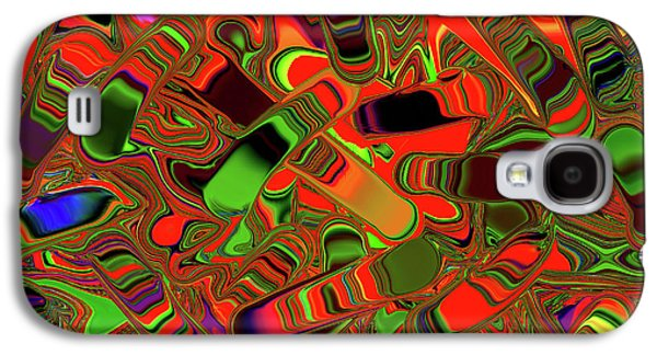 Slider Photographs Galaxy S4 Cases - Abstract Rainbow Slider Explosion Galaxy S4 Case by Andee Design