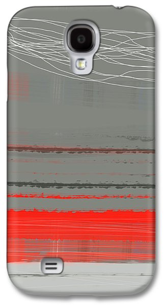 Modern Abstract Galaxy S4 Cases - Abstract Red 2 Galaxy S4 Case by Naxart Studio