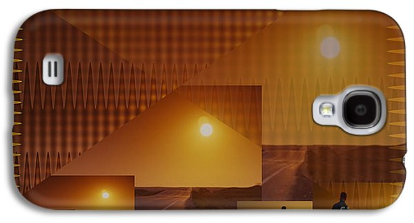 Sunset Abstract Galaxy S4 Cases - Abstract style graphics based on Sunset photography of Canadian West Galaxy S4 Case by Navin Joshi