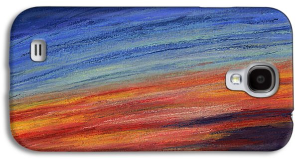 Sunset Abstract Pastels Galaxy S4 Cases - Abstract Sunset Galaxy S4 Case by Dorneisha Batson