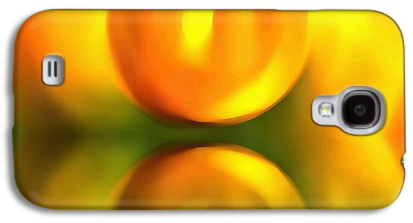 Sunset Abstract Mixed Media Galaxy S4 Cases - Abstract Sunset Reflection Galaxy S4 Case by Dan Sproul