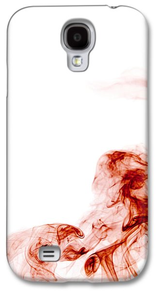 Angels Smoking Galaxy S4 Cases - Abstract Vertical Blood Red Mood Colored Smoke Wall Art 01 Galaxy S4 Case by Alexandra K