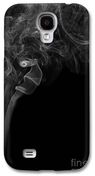 Angels Smoking Galaxy S4 Cases - Abstract Vertical Monochrome White Mood Colored Smoke Wall Art 05 Galaxy S4 Case by Alexandra K