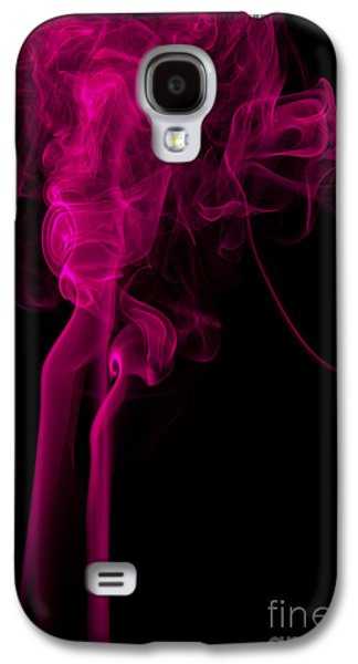 Angels Smoking Galaxy S4 Cases - Abstract Vertical Purple Mood Colored Smoke Wall Art 03 Galaxy S4 Case by Alexandra K