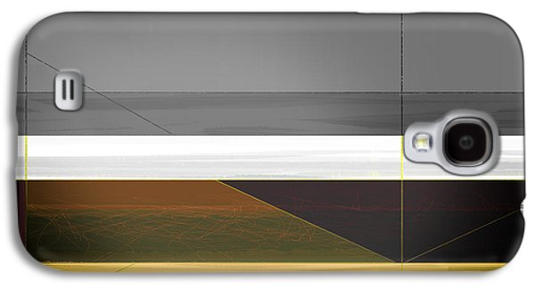 Abstract Forms Galaxy S4 Cases - Abstract Yellow and Grey  Galaxy S4 Case by Naxart Studio