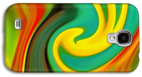 Abstract Yellow Flower Blooming Galaxy S4 Case by Amy Vangsgard