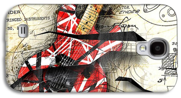 Recently Sold -  - Abstracts Galaxy S4 Cases - Abstracta 35 Eddies Guitar Galaxy S4 Case by Gary Bodnar