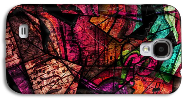 Abstract Digital Galaxy S4 Cases - Abstracta_11 Cacophony In Z Minor Galaxy S4 Case by Gary Bodnar
