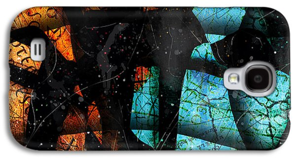 Blue Abstracts Digital Art Galaxy S4 Cases - Abstracta_13 Patmos Galaxy S4 Case by Gary Bodnar
