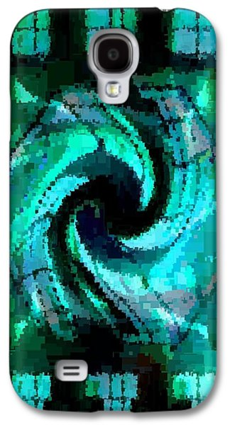 Abstract Digital Pastels Galaxy S4 Cases - Abstracticalia Catus 1 no. 2 V B Galaxy S4 Case by Gert J Rheeders
