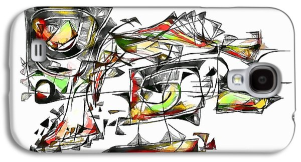 Abstract Forms Galaxy S4 Cases - Abstraction 1850 Galaxy S4 Case by Marek Lutek