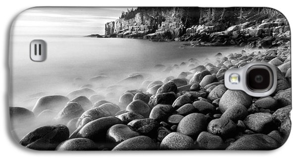 Coastal Maine Galaxy S4 Cases - Acadia Radiance - Black and White Galaxy S4 Case by Thomas Schoeller