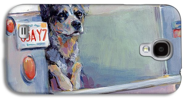 Cattle Dog Galaxy S4 Cases - ACD Delivery Boy Galaxy S4 Case by Kimberly Santini