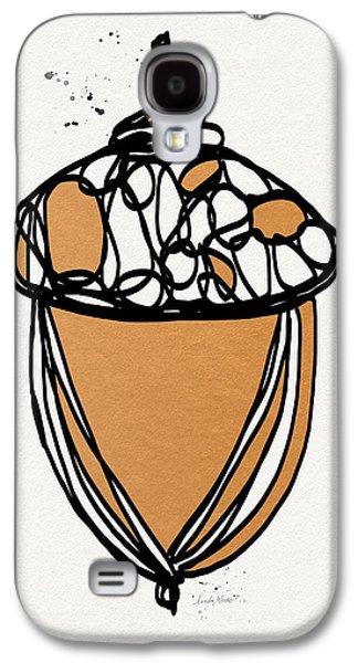 Harvest Art Galaxy S4 Cases - Acorn- Art by Linda Woods Galaxy S4 Case by Linda Woods