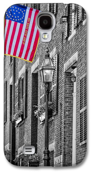 Gas Lamp Photographs Galaxy S4 Cases - Acorn Street Details SC Galaxy S4 Case by Susan Candelario