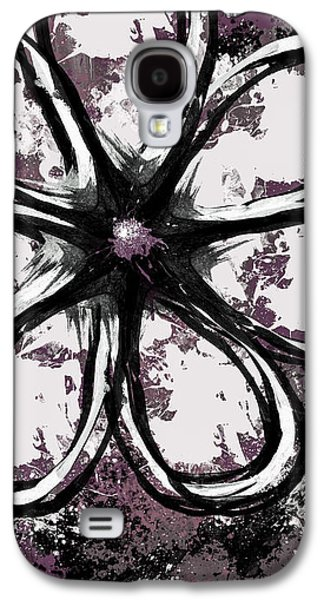 Abstract Digital Mixed Media Galaxy S4 Cases - Acrylic Flower 5 Galaxy S4 Case by Melissa Smith