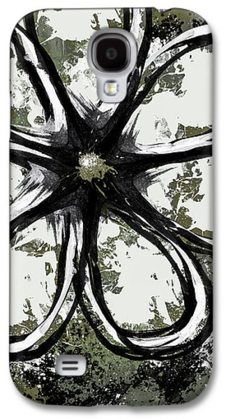 Abstract Digital Mixed Media Galaxy S4 Cases - Acrylic Flower 6 Galaxy S4 Case by Melissa Smith