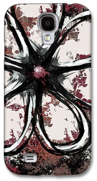 Abstract Digital Mixed Media Galaxy S4 Cases - Acrylic Flower 7 Galaxy S4 Case by Melissa Smith