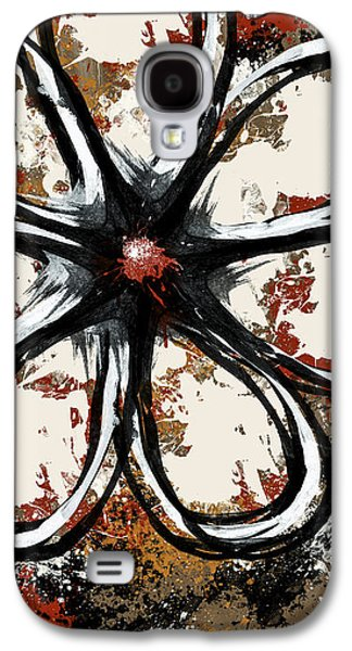 Abstract Digital Mixed Media Galaxy S4 Cases - Acrylic Flower  Galaxy S4 Case by Melissa Smith
