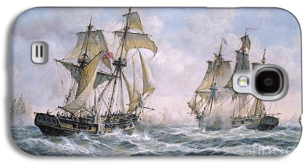 Historic Ship Galaxy S4 Cases - Action Between U.S. Sloop-of-War Wasp and H.M. Brig-of-War Frolic Galaxy S4 Case by Richard Willis