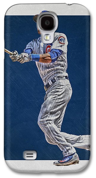 Addison Russell Chicago Cubs Art Galaxy S4 Case by Joe Hamilton