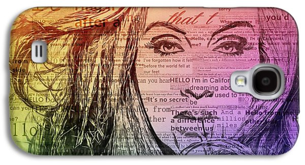 Adele Hello Typography  Galaxy S4 Case by Dan Sproul