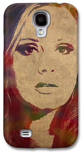 Adele Watercolor Portrait Galaxy S4 Case by Design Turnpike