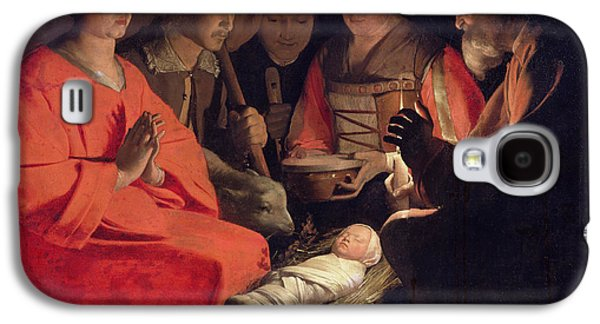 Manger Galaxy S4 Cases - Adoration of the Shepherds Galaxy S4 Case by Georges de la Tour