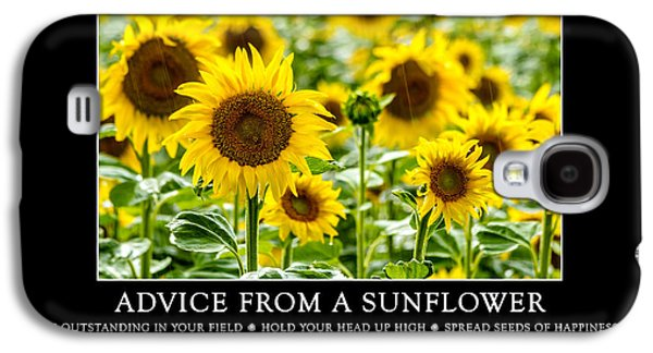 A Sunny Morning Galaxy S4 Cases - Advice from a Sunflower Galaxy S4 Case by Teri Virbickis