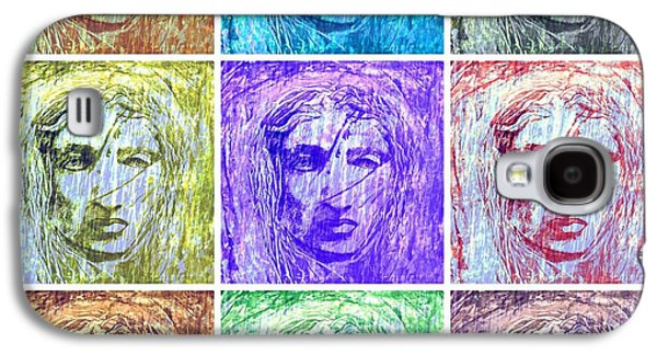 Statue Portrait Mixed Media Galaxy S4 Cases - Aeolus God Of Wind Collage Galaxy S4 Case by Rich  Ray Art