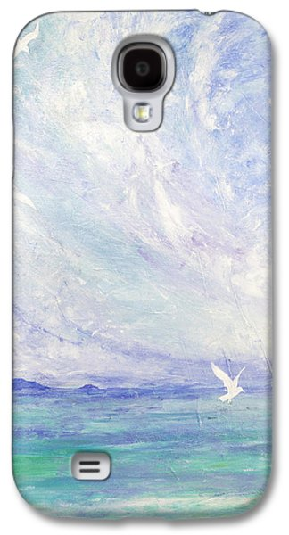 Flying Birds Galaxy S4 Cases - Aerial Ballet Galaxy S4 Case by Margaret Coxall