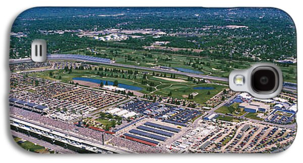 Indiana Scenes Galaxy S4 Cases - Aerial View Of A Racetrack Galaxy S4 Case by Panoramic Images
