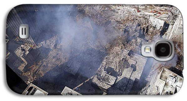 Terrorism Galaxy S4 Cases - Aerial View Of The Destruction Where Galaxy S4 Case by Stocktrek Images