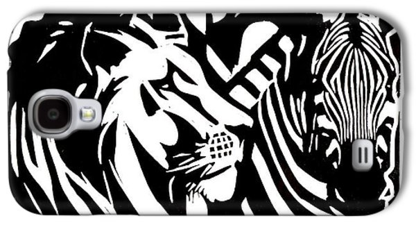 Lino Reliefs Galaxy S4 Cases - Africa Galaxy S4 Case by Alexis Mackay