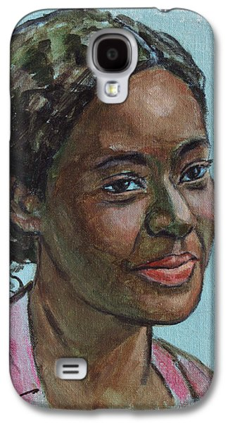 African-american Galaxy S4 Cases - African American 11 Galaxy S4 Case by Xueling Zou