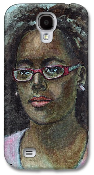 African-american Galaxy S4 Cases - African American 12 Galaxy S4 Case by Xueling Zou
