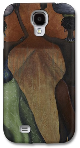 African Paintings Galaxy S4 Cases - African Desires Galaxy S4 Case by Kelly Jade King