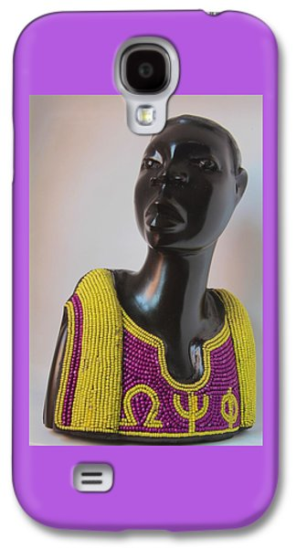 African-american Sculptures Galaxy S4 Cases - Omega Psi Phi An African Expression Galaxy S4 Case by Shaakira Edison