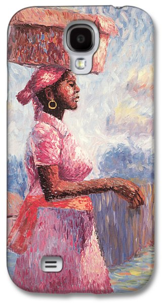 At Work Galaxy S4 Cases - African Lady Galaxy S4 Case by Carlton Murrell