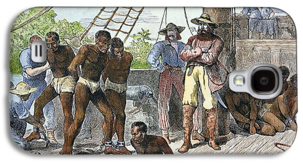 African Slaves Being Taken On Board Ship Bound For Usa Galaxy S4 Case by American School