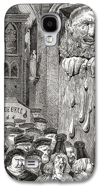 Crying Drawings Galaxy S4 Cases - After A Gustave Dore Illustration To A Galaxy S4 Case by Ken Welsh