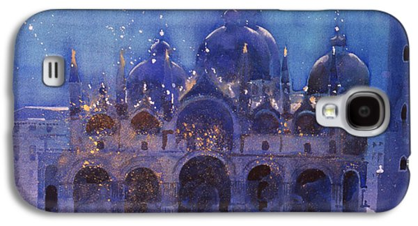 Fireworks Paintings Galaxy S4 Cases - After the meeting Galaxy S4 Case by Simon Fletcher