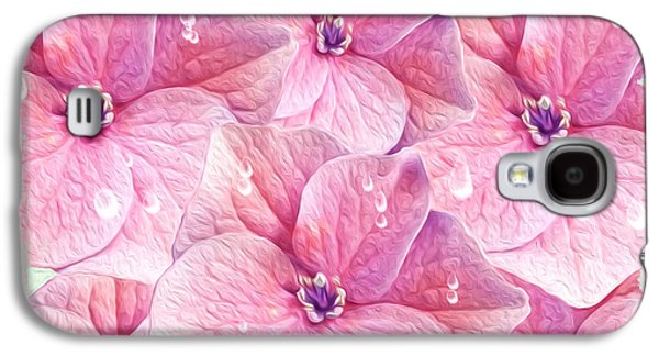 Pinks And Purple Petals Photographs Galaxy S4 Cases - After the Rain Galaxy S4 Case by Laura D Young