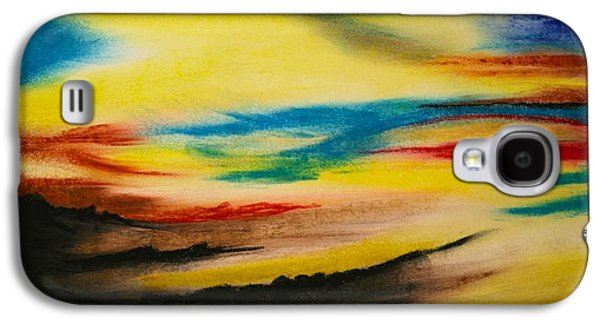 Sunset Abstract Pastels Galaxy S4 Cases - After The Storm Galaxy S4 Case by Terry  Hester